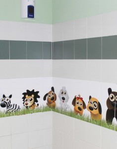 Stickers bathroom bambini