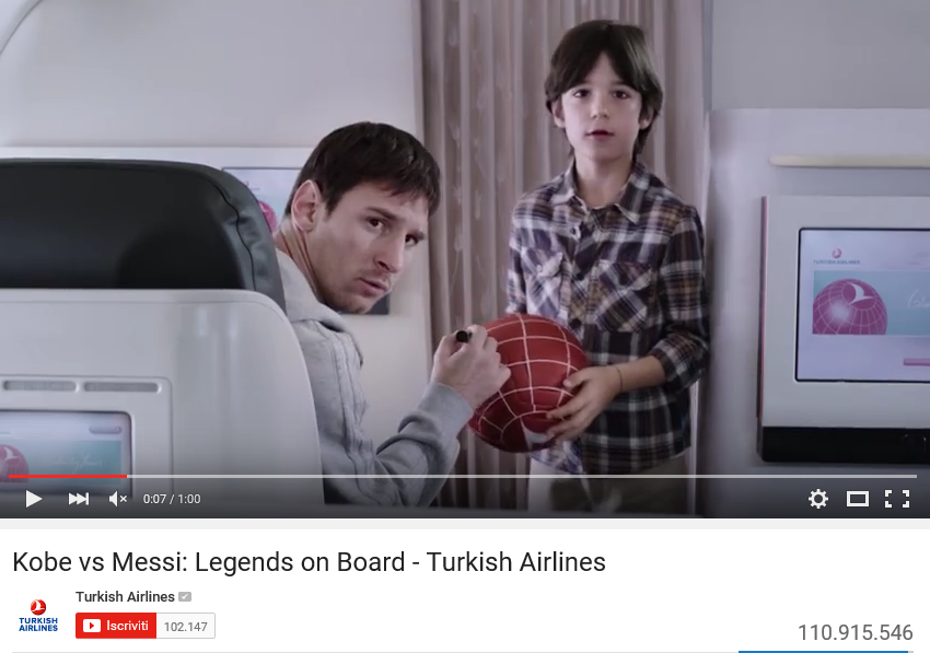 spot turkish airlines lionel messi kobe bryant