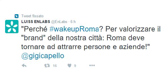 countdown tweet wakeupRoma